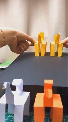 Instruções Origami, Paper Crafts Origami, Newspaper Crafts, Paper Crafts For Kids, Paper Quilling, Paper Crafting, Diy For Kids, Quilling Ideas, Origami Toys