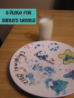 Plate for Santa's Treats perfect to make with your kids what ever age and then bring out each year to put out for Santa on Christmas Eve