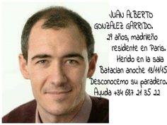 El español Juan Alberto González Garrido, fallecido en , los atentados de París ,DESCANSE EN PAZ.