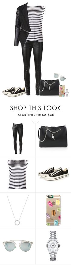 """Untitled #386"" by alexa-sz ❤ liked on Polyvore featuring Yves Saint Laurent, T By Alexander Wang, Converse, Michael Kors, Casetify and Christian Dior"