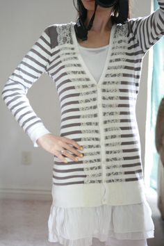 Anthropologie DIY- Lace Cardigan