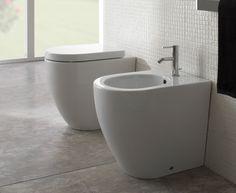 SA005.BI Globo  Globo Concept Compact Gulvst. toalett 490x360 mm, Med skjult innfesting