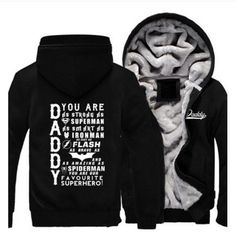 Men Women The Avengers Steel Daddy Batman The Flash Zipper Jacket Sweatshirts Thicken Hoodie Coat Clothing Casual