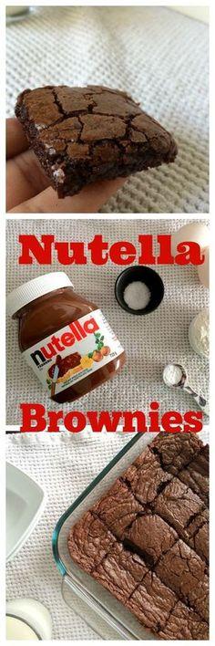 5-Ingredient Nutella Brownies