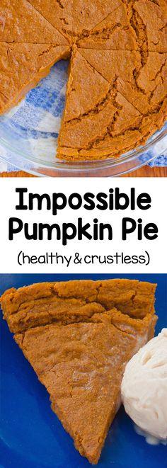 Healthy Recipes, Healthy Baking, Healthy Desserts, Fall Recipes, Dessert Recipes, Cooking Recipes, 100 Calorie Desserts, Dessert Light, Pumpkin Pie Recipes