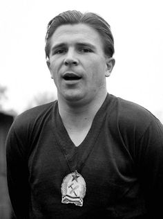 A Portrait of Hungarian forward Ferenc Puskas taken 21 March 1953 in Boulogne Billancourt, in the suburbs of Paris. Puskas, captain of the Hungarian national soccer team, won the Olympic title in Helsinki in 1952 with his team and reached the final of the 1954 World Cup in Switzerland, losing to West Germany (2-3), 04 July 1954 in Bern. Photo: AFP