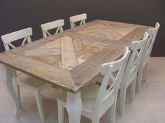 Houten Tafel Met Wit Onderstel.8 Beste Afbeeldingen Van Tafels Dinning Table Food En Mesas