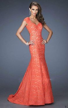 2015 Sexy Long Lace Mermaid Evening Formal Party Wedding Prom Dresses Ball Gowns
