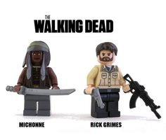 LUCILLE IS AWESOME MUG FUNNY NEGAN DARYL GRIMES RICK DIXON MICHONNE LEGO ZOMBIE