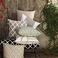 Neutral pillows for pops of fun pattern