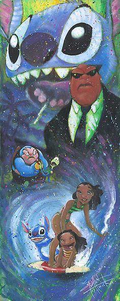 Stephen Fishwick - Lilo and Stitch - Heroic Stitch - Original - world-wide-art.com