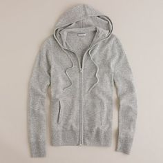 cashmere hoodie.  my fave thing ever.  jcrew