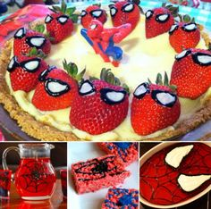 Spiderman party treat odeas
