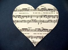 Use this idea to make a shadow box with our favorite music.