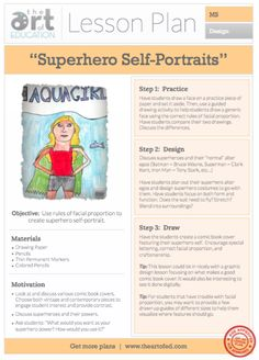 Superhero Self-Portraits: Free Lesson Plan Download