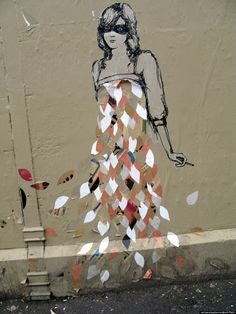 25 Women Pushing The Limits Of Street Art Around The World Miso:Born in Ukraine; based in Melbourne, Australia and Tokyo, Japan Banksy, Graffiti Art, Street Art Melbourne, Art Public, Inspiration Art, Outdoor Art, Chalk Art, Land Art, Art Design