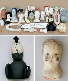 "The artist says that these handmade ceramic creations tell stories…   ""My work tends to be small and mysterious – even to me. In an effort to understand my work better I started to ask the things I made what they were about. When I sat with them very quietly, and listened, I could hear that they had things to say – these are their (smallest) stories.""  Bonnie Marie Smith"