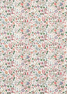 Sita by Sanderson - Chintz - Fabric : Wallpaper Direct Wallpaper Iphone Cute, Cute Wallpapers, Wallpaper Backgrounds, Textures Patterns, Print Patterns, Impression Textile, Chintz Fabric, Wallpaper Direct, Pattern Wallpaper