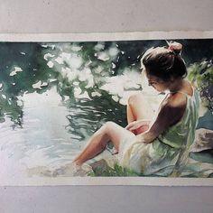 Watercolorist: @marcosbeccari  #waterblog #акварель #aquarelle #painting #drawing #art #artist #artwork #painting#illustration #watercolor #aquarela