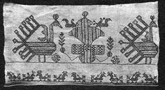 Motiv:      Broderi fra Karelen.  Identifikasjonsnr.:      NF.01162-023  Eier:      Norsk Folkemuseum