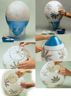Top 30 Crafty Paper Mache projects that you can try for yourself - Basteln - Home Crafts, Fun Crafts, Diy And Crafts, Arts And Crafts, Paper Crafts, Paper Mache Crafts For Kids, Diy Luminaire, Paper Mache Projects, Paper Mache Diy