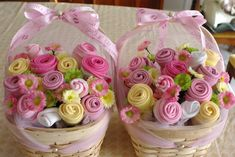 Baby bibs and socks bouquet