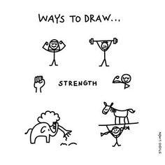 Daily Drawing, Drawing Skills, Drawing Tips, Simple Doodles, Cute Doodles, Doodle Drawings, Easy Drawings, Visual Note Taking, Dibujo