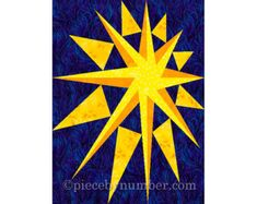 Counterpoint Star quilt block pattern paper by PieceByNumberQuilts