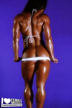 IFBB Pro Female Bodybuilder Jennifer Scarpetta posing her lovely calves for iLoveFemaleMuscle!
