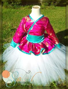 Mulan Princess Tutu Birthday Dress Outfit by SoleilCreations,
