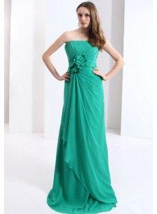 Chiffon Column Evening Dress