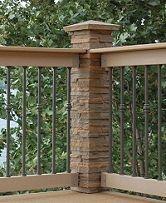 Colonial porch railing - thin railings, two-toned