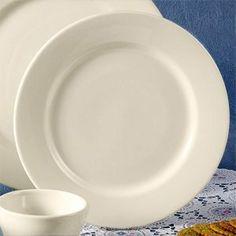 """11 1/4"""" Rolled Edge American White (Ivory / Eggshell) China Plate 12 / CS by Choice. $43.99. 11 1/4"""" Rolled Edge American White (Ivory / Eggshell) China Plate 12 / CS"""