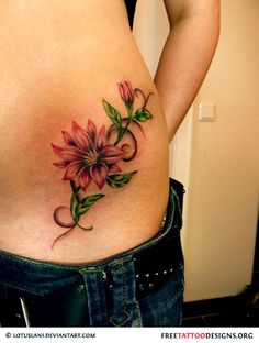 Very pretty tattoo body art tattoos piercings pinterest pretty tattoo just not so big and not there flower hip tattoo mightylinksfo