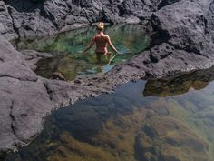 Tenerife, natural pool, Canary Islands. BLONDEONHOLIDAYS.COM