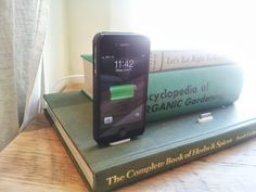 Book cell phone charger
