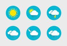 'Weather B' by Grappix Studio Weather Icons, Icon Set, Icon Design, Symbols, Studio, Stuff To Buy, Style, Swag