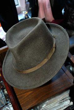 9f43b9f4b00  Vintage Herbert Johnson  IndianaJones trilby  fedora Hats For Sale