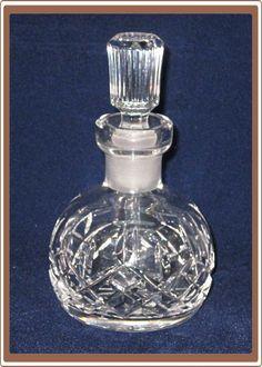 Vintage Waterford Crystal Round Perfume Bottle Lismore  $55