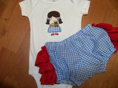 Wizard of OZ inspired two piece ruffle butt diaper by playpatch, $50.00