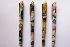 Cat Writing Pens with designs by Ruth Maystead - lovely Cat gifts available in the UK.