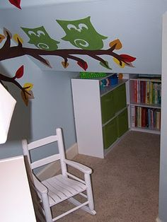 Cozy play/reading area. It's in a closet under their stairs.