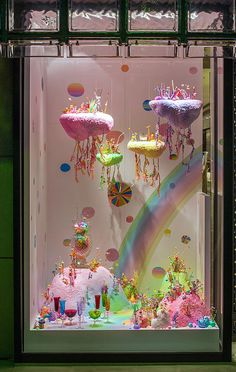 pip & pop - Candyland Landscapes installation by Aussie artist Tanya Schultz using sugar, glitter and plastic toys. Instalation Art, Taste The Rainbow, Candyland, Retail Design, Aesthetic Pictures, Art Inspo, Street Art, Artsy, Kawaii