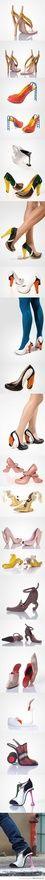 INSANE!!! Creative high heel designs. They get weirder as you scroll! the-haha-hehe-board