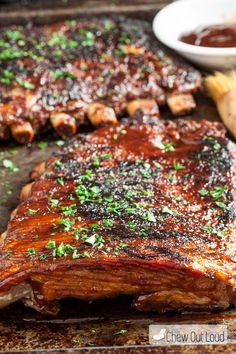 List of 20 delicious ribs recipes that are tender and juicy. If you want to have something special for the dinner, then you might want to have some ribs. In this list, you will definitely find a ribs recipe that you would like to make. We promise! Rib Recipes, Grilling Recipes, Cooking Recipes, Smoker Recipes, Slow Cooker Ribs, Slow Cooked Meals, Freezer Meals, Shrimp Pasta Recipes, Chicken And Shrimp Pasta