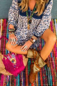 Bohemian look hippie style Boho boots