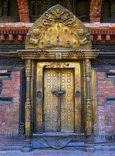Kathmandu, Nepal - Goldene Tür in Patan