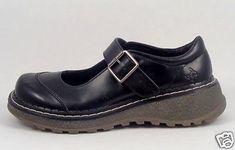 Mary-Jane-shoes-size-7-M-US-Black-Vegan-Self-Esteem-5-UK-Buckle-Goth-Punk-Girls