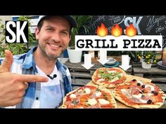 Grilled Pizza, Feta, Grilling, Veggies, Beverages, Youtube, Brot, Vegetable Recipes, Crickets