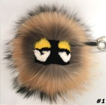 Fur Monster Keychain Bag Raccoon Ball Car Key Birthday Gift Ideas For Her  Perfect accessory for any bag or keys.  Fur pom pom bag pendant with strap and metal buckle.  Due to the wide variety of options, so you can always find the perfect solu...